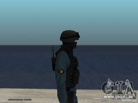 RIOT POLICE Officer für GTA San Andreas sechsten Screenshot