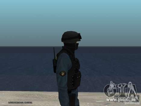 Agent de POLICE d'émeute pour GTA San Andreas sixième écran