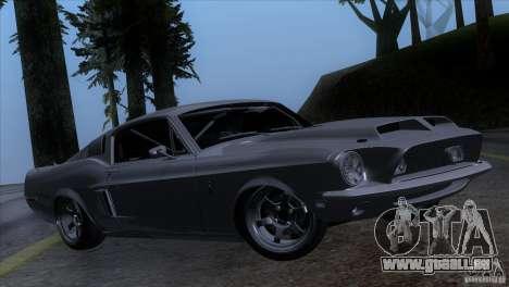 Shelby GT500 1969 für GTA San Andreas zurück linke Ansicht