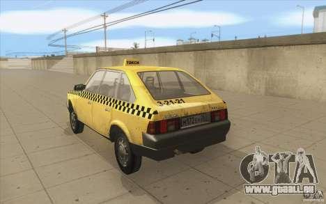 2141 Moskvitch AZLK Taxi v2 pour GTA San Andreas sur la vue arrière gauche