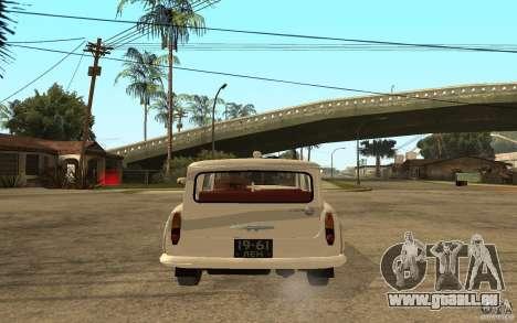 Moskvitsch 423 m Ambulanz für GTA San Andreas zurück linke Ansicht