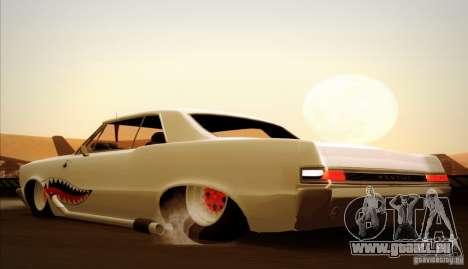 Pontiac GTO Drag Shark für GTA San Andreas obere Ansicht