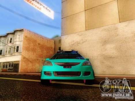 Mitsubishi Lancer für GTA San Andreas Rückansicht