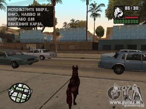Cerberus aus Resident Evil 2 für GTA San Andreas dritten Screenshot
