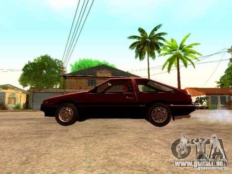 Toyota Corolla Carib AE 86 pour GTA San Andreas laissé vue