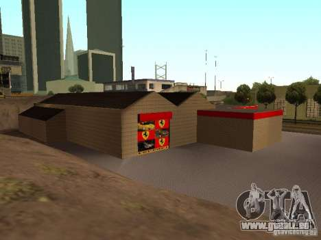 Le garage Ferrari dans Dorothy pour GTA San Andreas cinquième écran