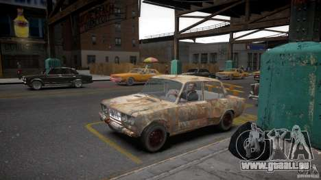 VAZ 2106 Rusty pour GTA 4 Vue arrière