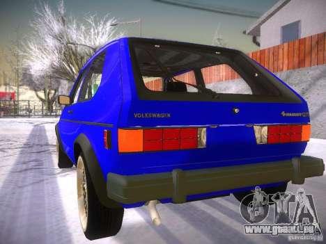 Volkswagen Rabbit GTI für GTA San Andreas linke Ansicht