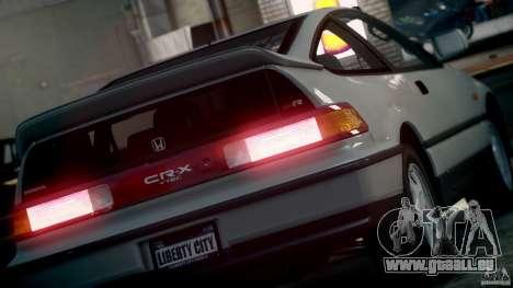 Honda CR-X SiR 1991 pour GTA 4 est un droit