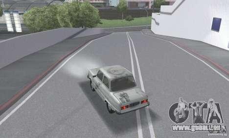 ZAZ 968 m en lambeaux pour GTA San Andreas vue de dessous