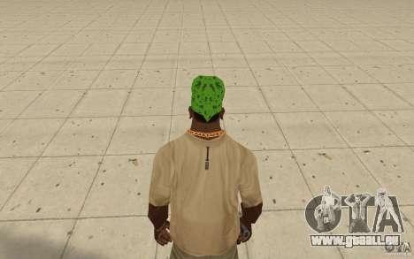 Bandana grün maryshuana für GTA San Andreas dritten Screenshot