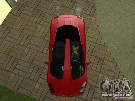 Lamborghini Concept S pour GTA San Andreas vue de dessus