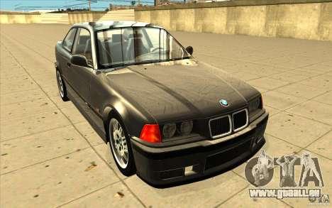 BMW E36 M3 - Stock pour GTA San Andreas vue arrière