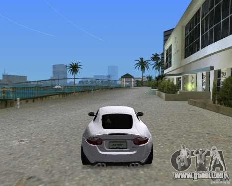 Jaguar XKR S pour GTA Vice City sur la vue arrière gauche