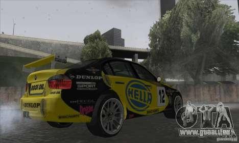 BMW 320i GRID pour GTA San Andreas vue de droite