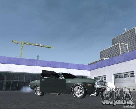 Dodge Challenger V1.0 für GTA San Andreas zurück linke Ansicht