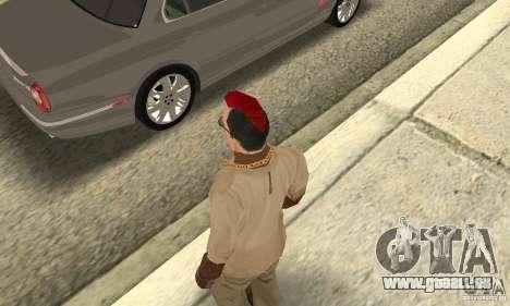 Red Mohawk and Black Stubbles für GTA San Andreas dritten Screenshot