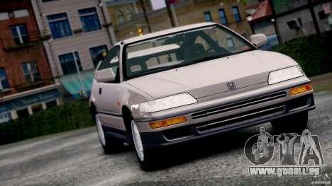 Honda CR-X SiR 1991 pour GTA 4 Vue arrière de la gauche