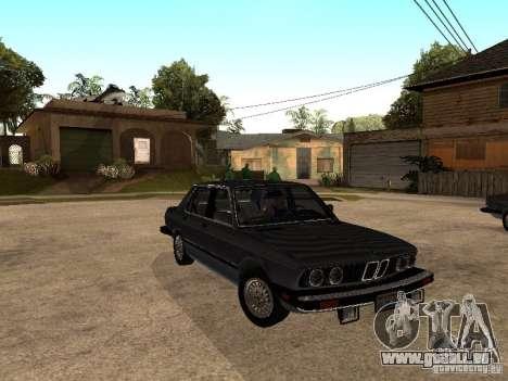 BMW 535is E28 pour GTA San Andreas vue intérieure