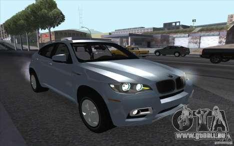 BMW X6M 2013 pour GTA San Andreas sur la vue arrière gauche