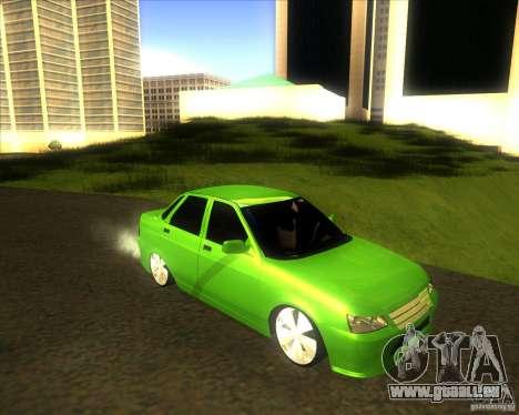LADA priora voiture tuning pour GTA San Andreas sur la vue arrière gauche