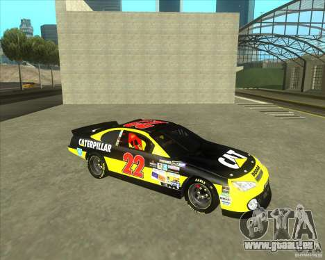 Dodge Nascar Caterpillar für GTA San Andreas linke Ansicht