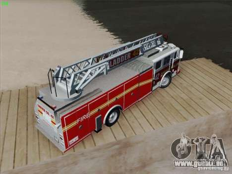 Seagrave Ladder 42 für GTA San Andreas Innen