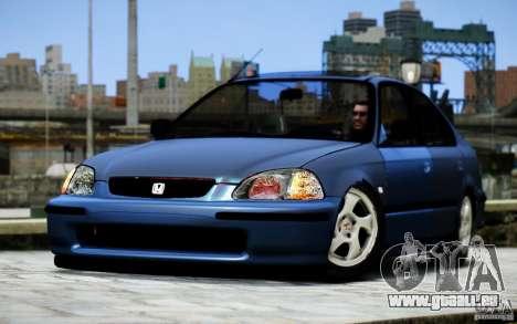 Honda Civic Vti pour GTA 4 Vue arrière