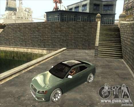 Audi S5 V8 custom 2008 pour GTA San Andreas sur la vue arrière gauche