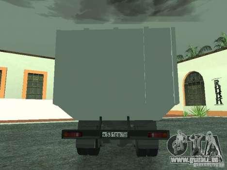 Camion à ordures 53215 KAMAZ pour GTA San Andreas vue de droite