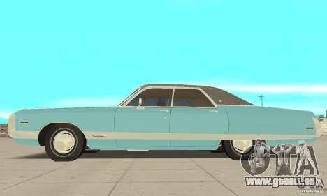 Chrysler New Yorker 4 Door Hardtop 1971 pour GTA San Andreas sur la vue arrière gauche