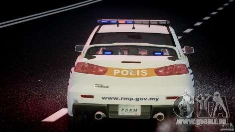 Mitsubishi Evolution X Police Car [ELS] für GTA 4-Motor
