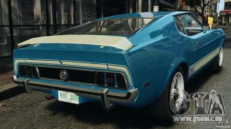 Ford Mustang Mach I 1973 für GTA 4 hinten links Ansicht