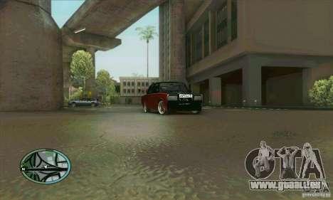 VAZ 2107 voiture Tuning pour GTA San Andreas vue de côté