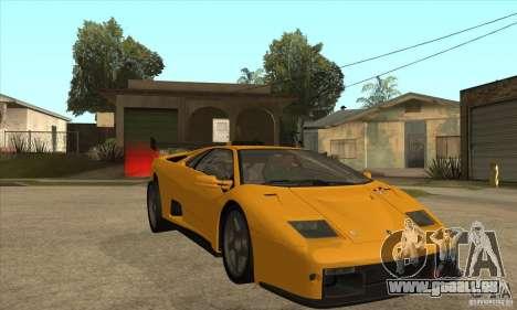 Lamborghini Diablo GT-R für GTA San Andreas Rückansicht