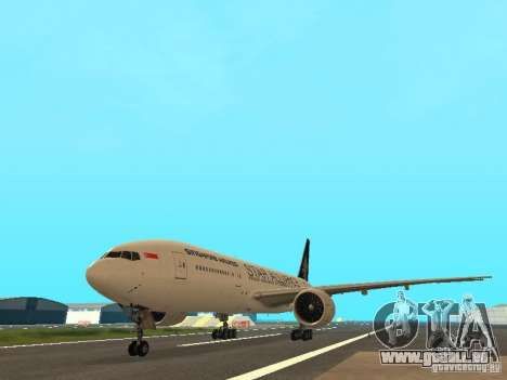 Boeing 777-200 Singapore Airlines für GTA San Andreas