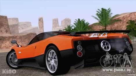 Pagani Zonda F pour GTA San Andreas moteur
