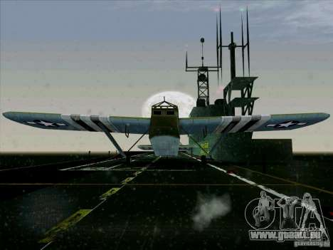 Avion du jeu derrière l'ennemi lignes 2 pour GTA San Andreas sur la vue arrière gauche