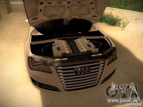 Audi A8 2010 für GTA San Andreas Seitenansicht