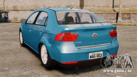 Volkswagen Voyage G6 2013 pour GTA 4 Vue arrière de la gauche