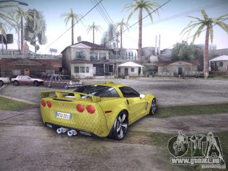 Chevrolet Corvette C6 Z06 Tuning pour GTA San Andreas salon