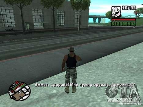 Gun Seller RUS pour GTA San Andreas deuxième écran