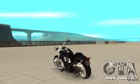 Harley Davidson FXSTBi Night Train für GTA San Andreas zurück linke Ansicht