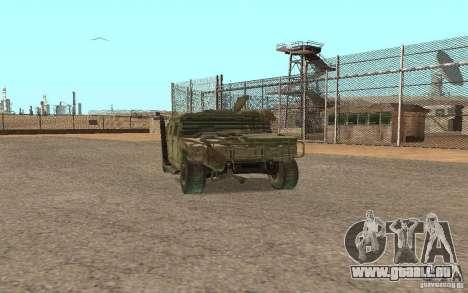Hummer Spec Ops The Line pour GTA San Andreas laissé vue