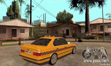 BMW E34 535i Taxi pour GTA San Andreas vue de droite