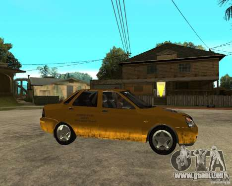 LADA 2170 « priora » Taxi pour GTA San Andreas vue de droite