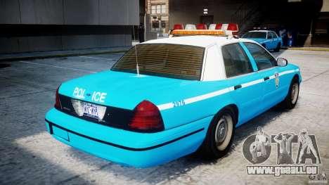 Ford Crown Victoria Classic Blue NYPD Scheme pour GTA 4 est un droit