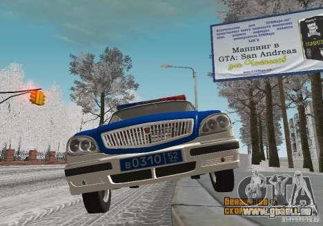 DPS VOLGA GAZ-31105 v2.0 pour GTA San Andreas vue arrière