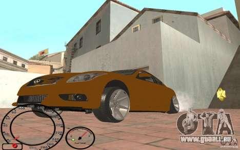 Infiniti G37 Vossen pour GTA San Andreas laissé vue