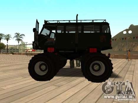 Uaz Monster pour GTA San Andreas laissé vue